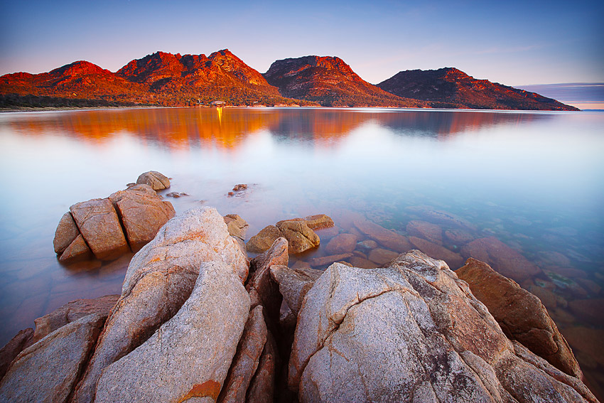 Sunset, Coles Bay, Freycinet