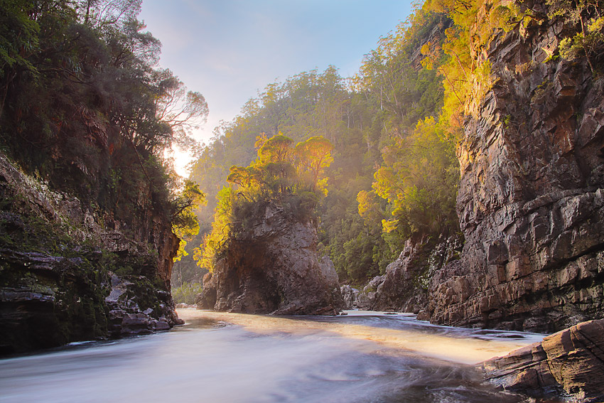 Rock Island Bend, Franklin River