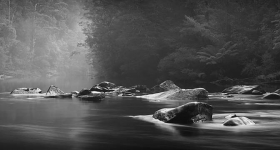 Mist on the Weld River