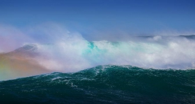 Tarkine wave rainbow