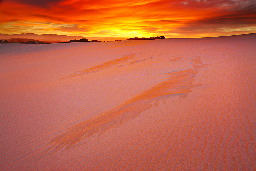 Sunset, Peron dunes
