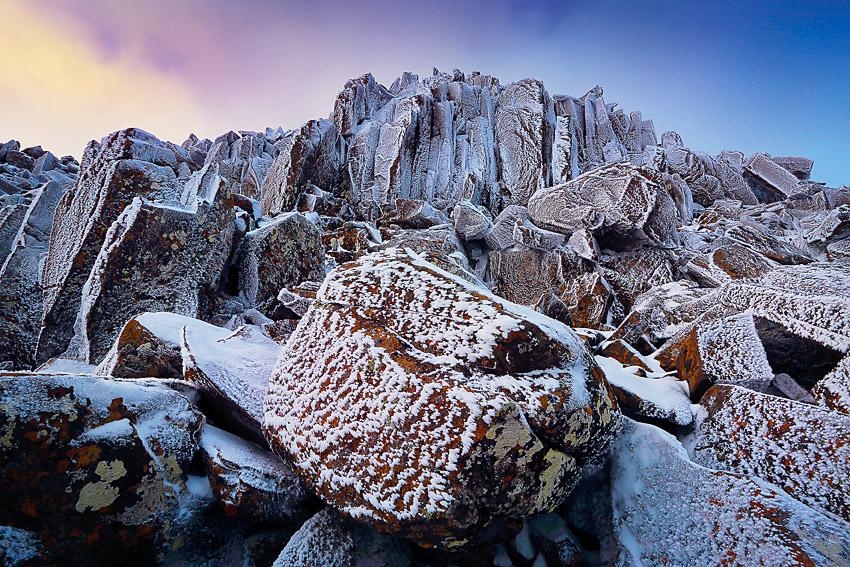 Frozen Boulders, Ben Lomond