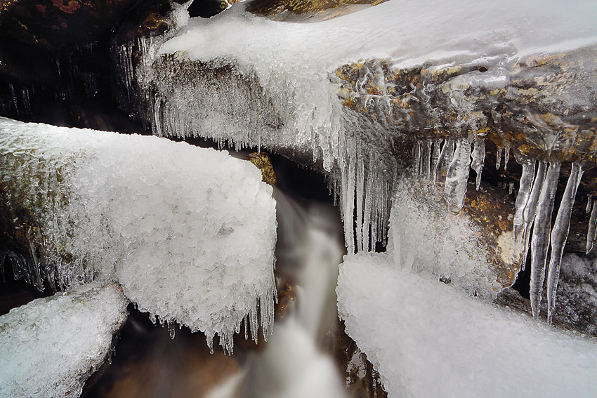 Frozen water fall