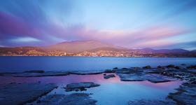 SUNRISE OVER HOBART