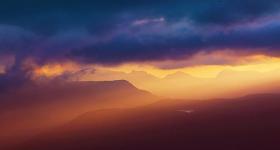 Sun rays, Central Highlands